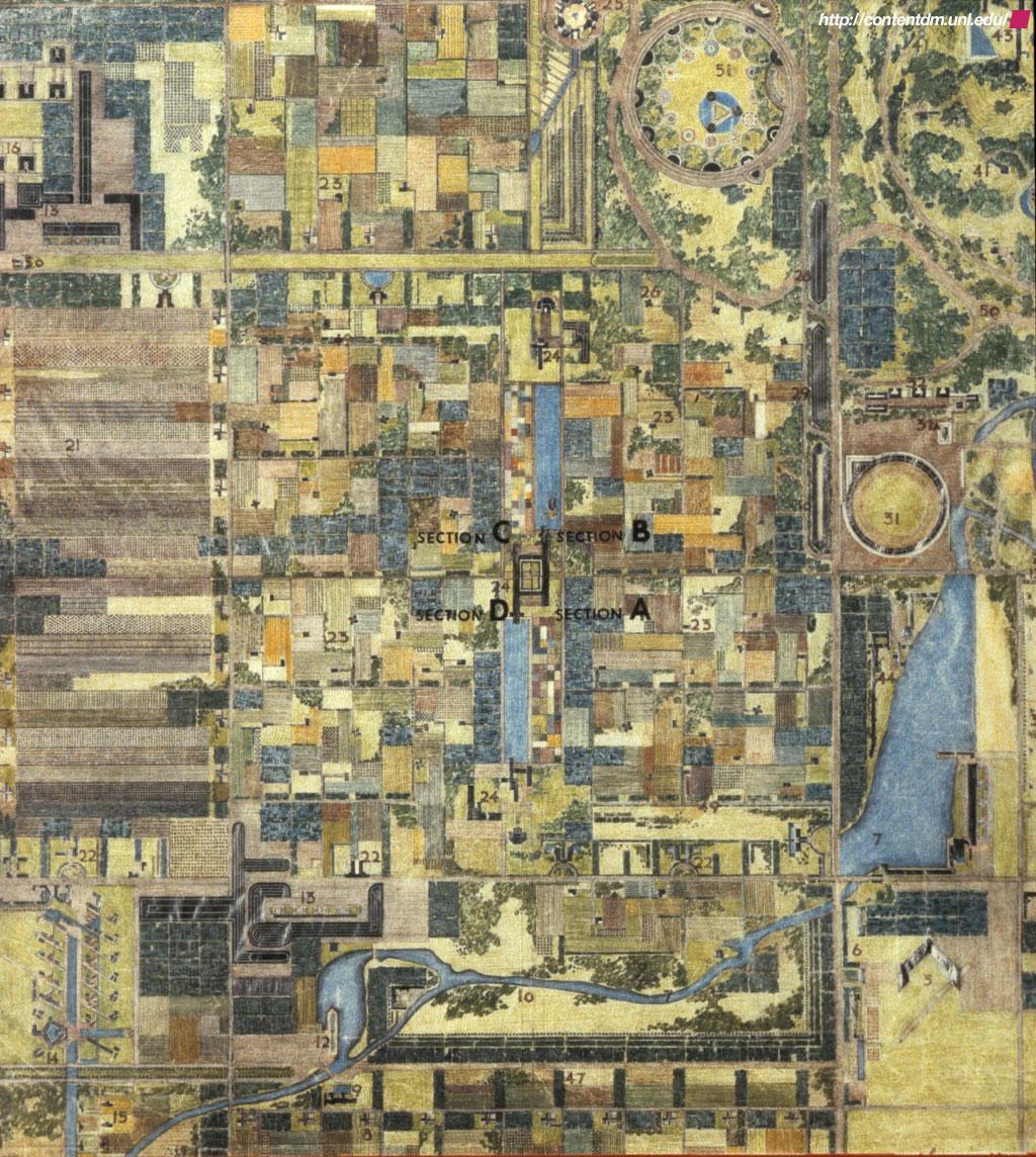 broadacre city plan ile ilgili görsel sonucu broadacre city plan
